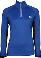 More Mile Vancouver 2 Womens Thermal Running Top Blue Half Zip Long Sleeve Shirt