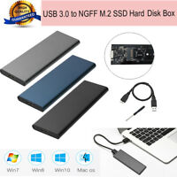 6Gbps USB 3.0 to NGFF M.2 SSD Hard Disk Box External Enclosure Case for PC MAC