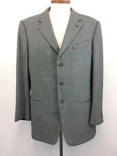 Armani Jacket 44L Black Silver 100% Wool Mens 3-Button Blazer