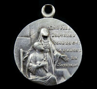Vintage St Augustine Medal with his mother Saint Monica French Quote Hippone