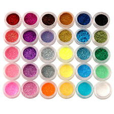 30 Colors Nail Art Acrylic Shiny Glitter Powder Dust Beads For Tips Decoration