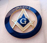 P2 LARGE Mason badge with G Geometry Freemason Square Compass Tools