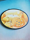 Christmas Decor/ Halloween Plaque Double Sided Reversible with Hooks VINTAGE