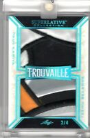 PAUL KARIYA / TEEMU SELANNE 2019-20 Leaf Superlative TROUVAILLE DUAL PATCH #2/4