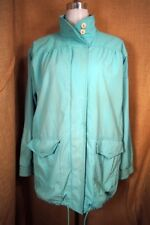 Learsi Sea Green 80's Large Coat Jacket Vintage Women's
