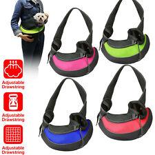More details for pet dog cat puppy carrier breathable tote shoulder travel bag sling backpack