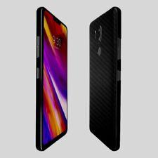 Skinomi Black Carbon Fiber Skin Clear Screen Protector Film for LG G7 ThinQ