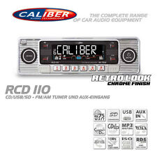 Caliber RCD110 Retro Radio Autoradio Classic Oldtimer USB SD CD MP3 Aux In Chrom