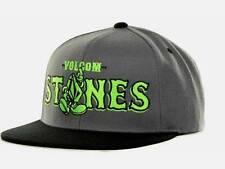 Volcom Stone Mascot 2 Snapback Gray Green Wool Blend Hat Ball Cap NWT NEW