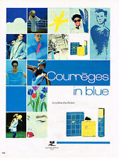 PUBLICITE ADVERTISING 054  1986  Courrèges  parfum IN BLUE
