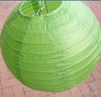 9x 30cm green paper lanterns DIY birthday wedding party venue hanging decoration