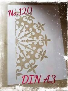 Stencil / Schablone #120 Shabby / Vintage DIN A2 Mandala