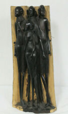 """19"""" Tall African Carved Ebony Wood Statue"""