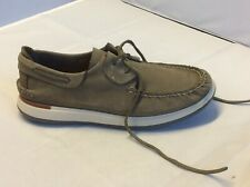 Sperry Top -sider Leather Gray Men Boat Shoes 2 Eye  Moccasins Size 10.5