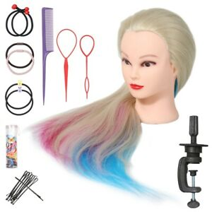 """Training Head 26""""-28"""" Hair Practice Hairdressing Mannequin Doll Clamp Tool"""