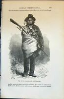 Old Le Loup Tachete Chef Chayenne Indian Man 1880 Human Races Humaine Victorian