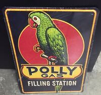 Polly Gas Banner Parrot Bird Hot Rod Vintage Oil Gas Service Station Pump Flag V