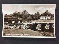 Vintage RPPC: Devon: #T157: Clapper Bridge At Postbridge, Dartmoor