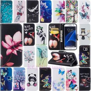 Patterned Wallet Leather Flip Case Cover For Samsung Galaxy S8 Note 8 A3 A5 2017