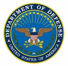 "4"" DEPARTMENT OF DEFENSE DOD STICKER WINDOW  DECAL MADE IN USA"