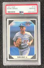 1991 Leaf Mark Grace #170 Baseball Card Chicago Cubs PSA 10 GEM MT