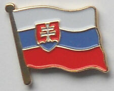 Slovak Republic Slovakia Country Flag Enamel Pin Badge