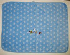 Garanimals White Stars on Blue Sky & Plane Plush and Micro Sherpa Baby Blanket