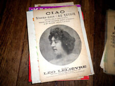 Ciao disons-nous : Au revoir sur motifs de la valse populaire 1900 Léo Lelièvre