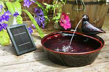 Fontaine Solaire Autonome Colombe en Céramique Terrasse Jardin Panneau Solaire