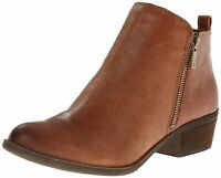 Lucky Brand Womens Basel Leather Almond Toe Ankle Fashion, Toffee, Size 11.0 wdD