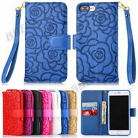 Rose Flower 3D Printed Flip PU Leather Wallet Case Cover For Various Cell Phone