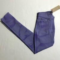 Levis Jeans Purple Tie Dye Too Superlow Skinny Leg Juniors Womens Size 5 27 x 32