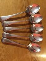 5 x Antique Silver Plated EPNS J.R Spoons  A1 17.8cm