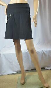 NWT $69  Athleta Size 6 & 12 Black Ponte Moto Skirt Wrinkle Resistant #349379