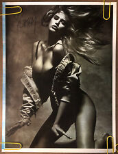 Original Vintage Poster Ashley Sexy Womanblone Bombshell Swimsuit Model Pin Up