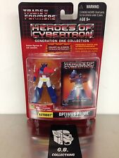 Transformers G1 Collection Heroes Of Cybertron Optimus Prime w/ Comm NEW SEALED