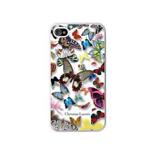COQUE IPHONE 4 4S CHRISTIAN LACROIX BUTTERFLY BLANC SILICONE RIGIDE (TPU)