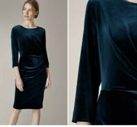 JAEGER Women Velvet Stretch Bodycon Cocktail Shift Party Dress RRP£140 size 6-18