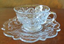 McKee Rock Crystal Clear Cup & Saucer Set(s)