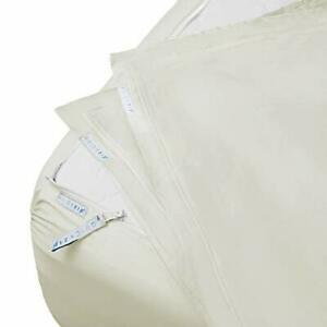 QuickZip Fitted Sheet - Includes 1 Fitted Sheet Base & 2 Zip-On Sheets - Easy...