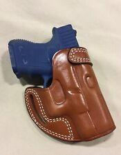 Leather CROSS DRAW Holster - GLOCK 26 / 27, S&W M&P SHIELD 9mm  - (# 7727 BRN )