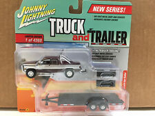 Johnny Lightning 1/64 Truck & Trailer 1996 Dodge RAM & Car Trailer VER A JLBT006