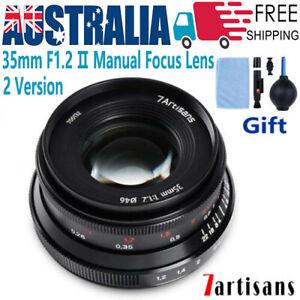 7Artisans 35mm F1.2 Lens For Fujifilm X Sony E Canon EF-M M/43 Olympus Panasonic
