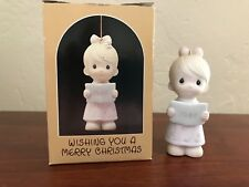 "Precious Moments 1984 ""Wishing You a Merry Christmas"" Choir Girl Ornament"
