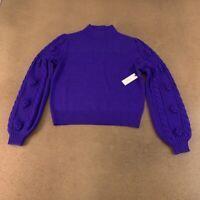 Anthropologie Maeve Womens Pullover Sweater Blue Long Sleeve Cable Knit S New