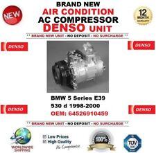 DENSO AIR CONDIZIONE COMPRESSORE AC per BMW 5 E39 530 D 1998-2000 OEM: 64526910459