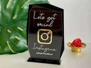 Personalized Instagram Sign Social Media Small Business Logo Office Beauty Salon