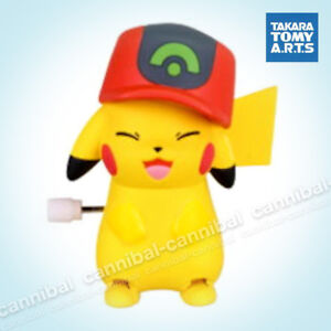~ POKEMON - white knob windup walker - Takara Tomy gashapon - wind up PIKACHU (b