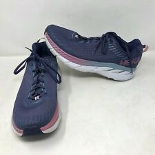 Hoka One One Womens Clifton 5 Knit Running Athletic Shoes Purple Size 12