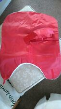 Dogs waterproof jacket Red with white fluffy lining
